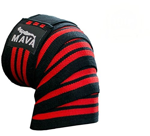 Mava Sports Knee Wraps With Velcro